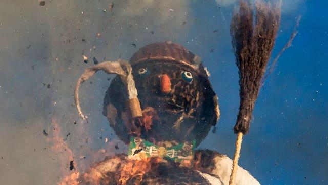 Kopf des Bööggs kurz vor der Explosion.