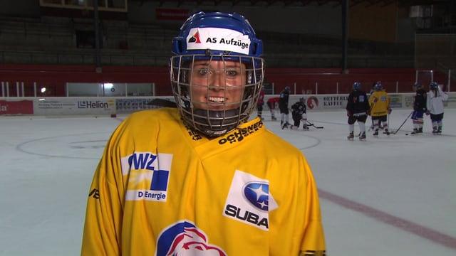 Anna Rueedi auf dem Eis.