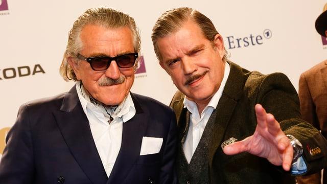 Dieter Meier und Boris Blank im Anzug.
