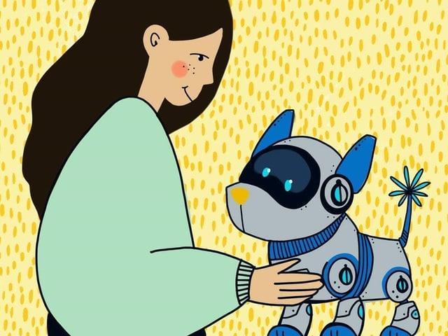 Lara und Robi, ihr Roboter-Hund