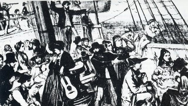 Sin la punt d'ina nav d'emigrants