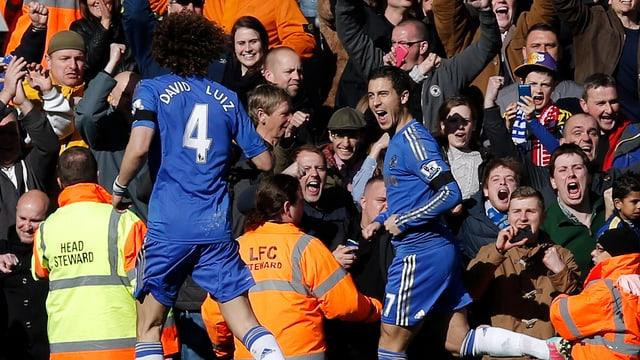 David Luiz (r.) und Eden Hazard sind zwei Gesichter des «neuen» FC Chelsea.