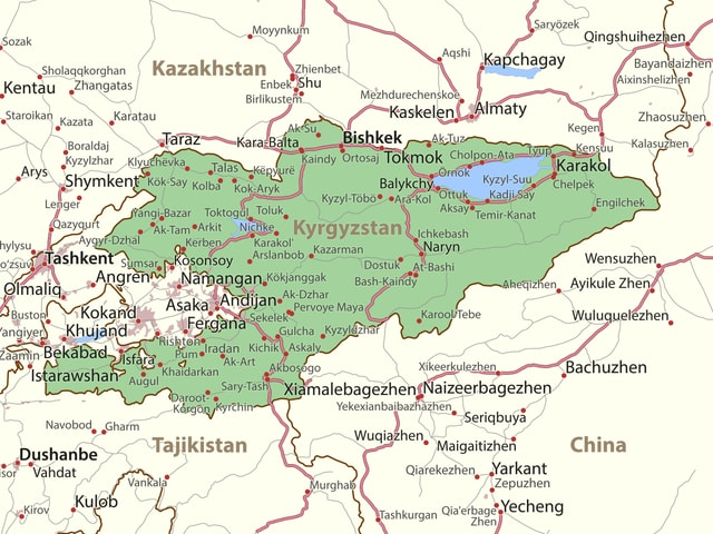 Karte von Kirgistan