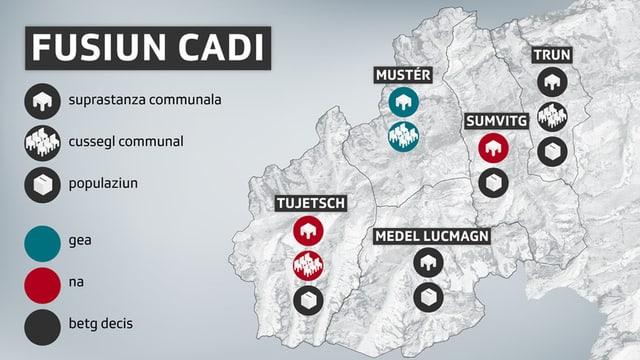 Grafik zum Stand der Dinge in den betroffenen Gemeinden.