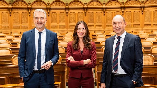 Sandro Brotz,Susanne Wille und Urs Leuthard.