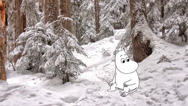 Mumin im Schnee