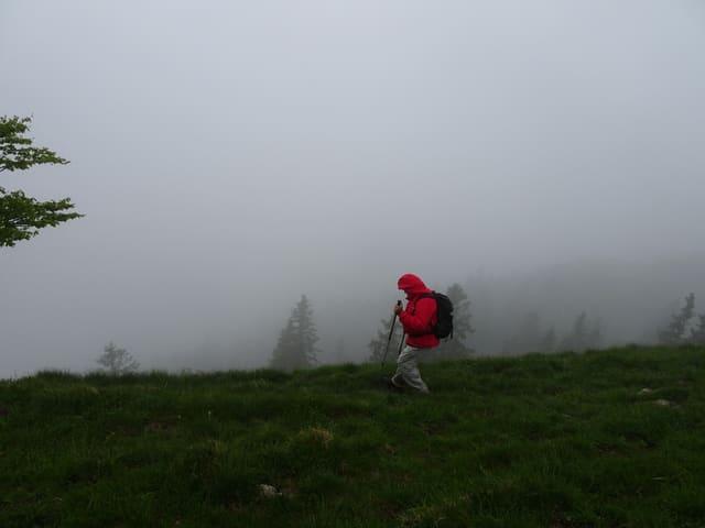 Stallflue 1414 m, Wanderung im Solothurner Jura im kurzem aber heftigem Gewitter.