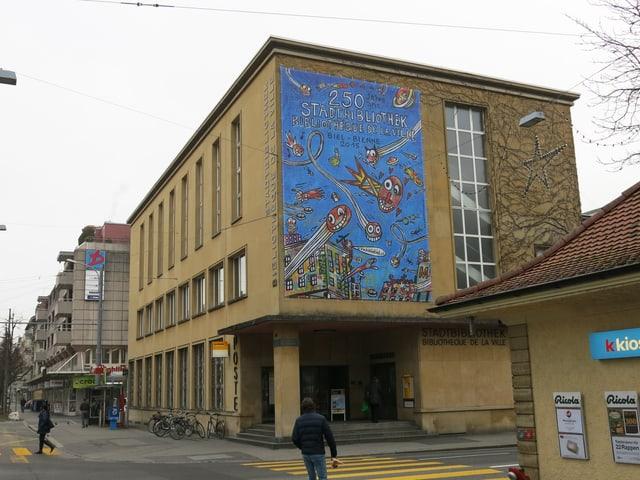 Aussenansicht der Bieler Stadtbibliothek