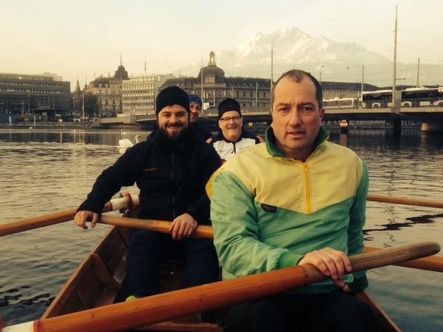 Marco Thomann trainiert mit dem Ruderclub Reuss in Luzern.