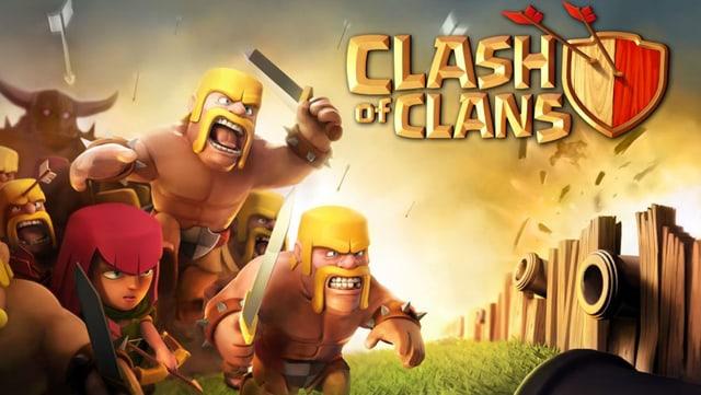Der Startbildschirm des iOS Games Clash of Clans