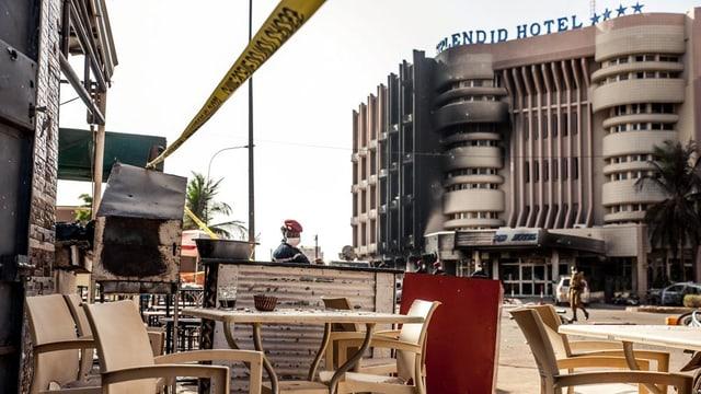 Il hotel «Splendid» ad Ouagadougou il di suenter l'attatga terroristica.