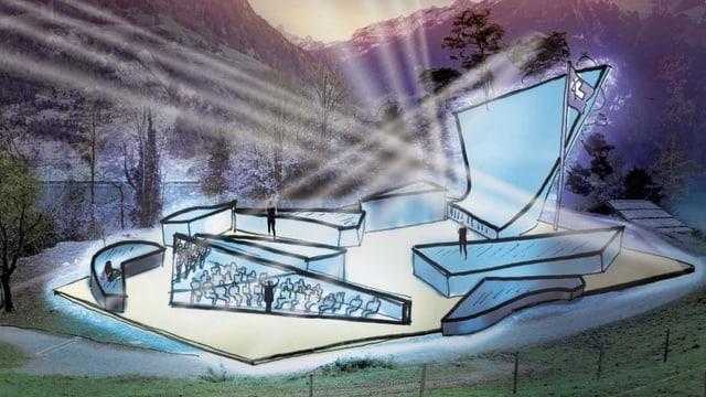 Visualisierung einer Freilichtbühne