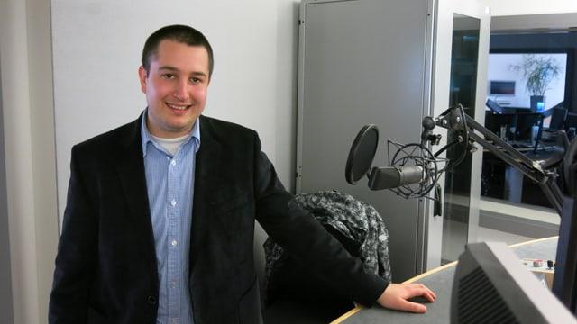 Porträt von Anian Liebrand, Präsident der JSVP Schweiz