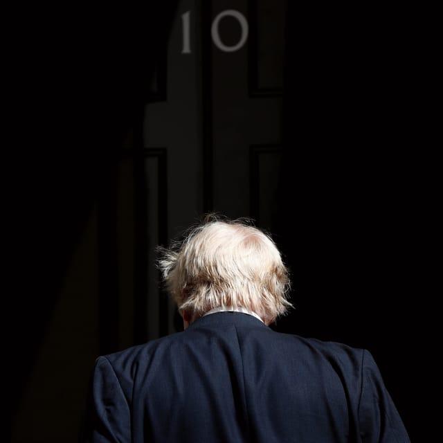 Boris Johnson an der Downing Street 10