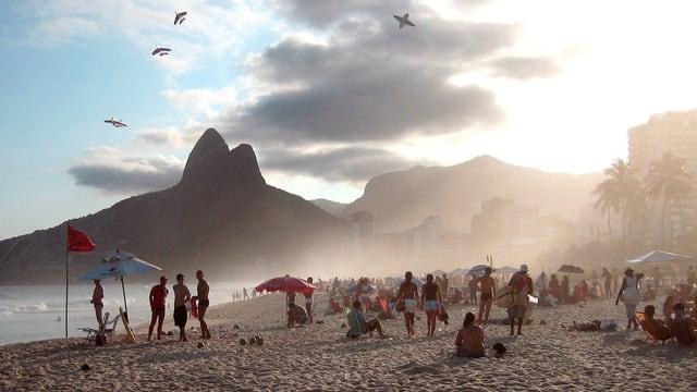 Blick auf den Strand von Rio de Janeiro.