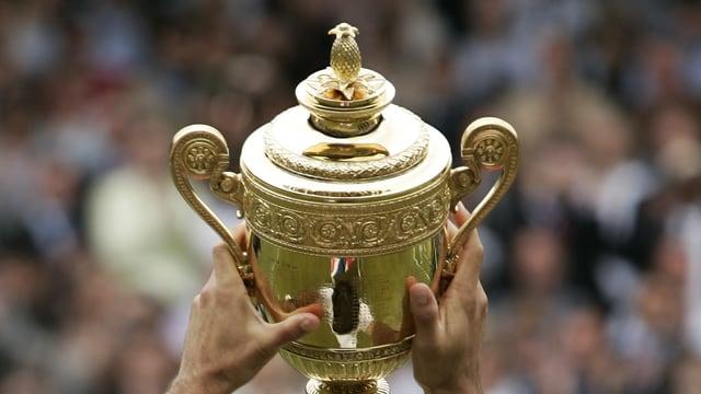 Die begehrte Trophäe von Wimbledon