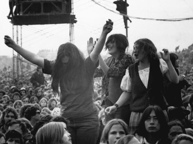 Zuschauer während eines Konzerts