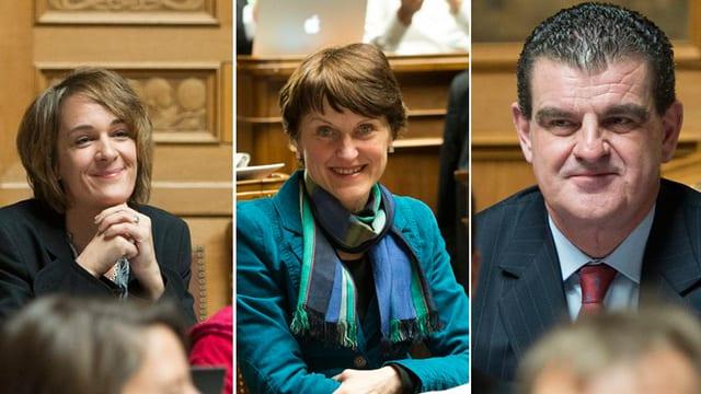 Ursula Wyss, Franziska Teuscher und Peter Spuhler.