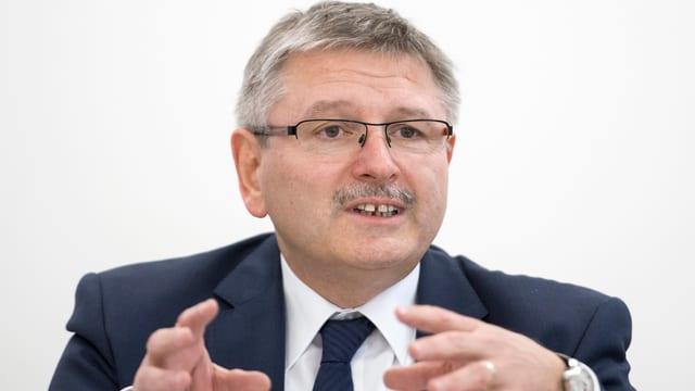 Der Präsident der Finanzdirektorenkonferenz, der jurassische CVP-Finanzdirektor Charles Juillard.