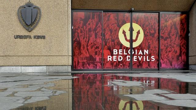 Blick auf das Bürogebäude von Belgiens Fussballverband.