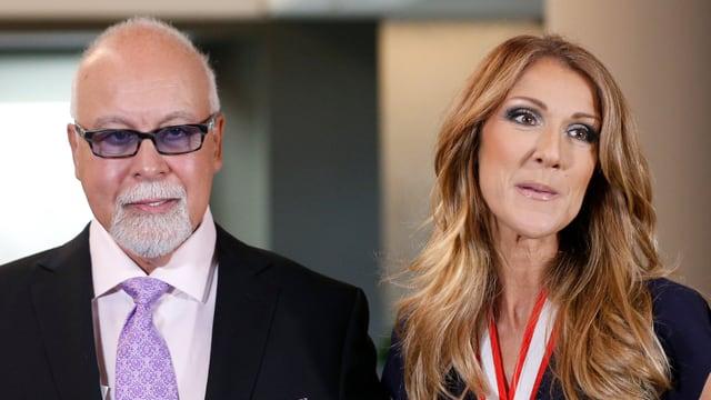 René Angélil und Céline Dion.