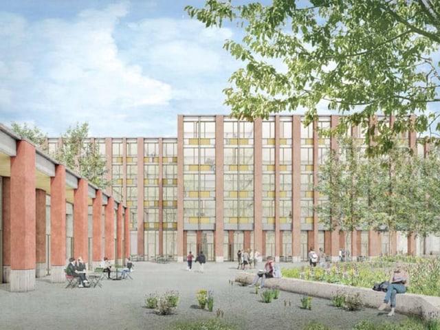 Visualisierung eines Bauprojektes für die Kantonsschule Ausserschwyz