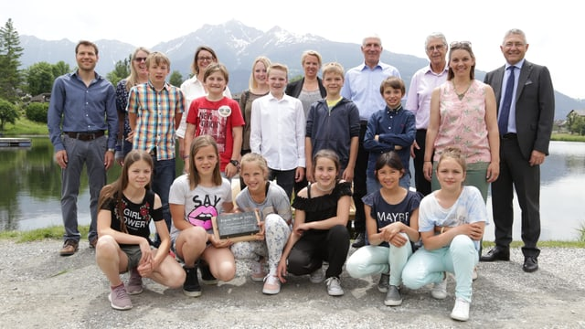 Classa da Donat cun Vincent Augustin e Hansjörg Hassler.