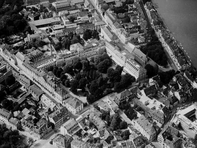 Das Bürgerspital Basel im Jahre 1936, Luftaufnahme