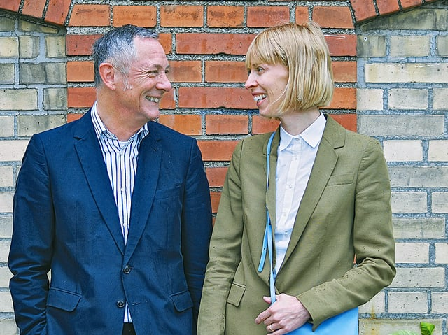 Das Leitungsteam der LISTE: Direktor Peter Bläuer und die Leiterin Jacqueline Uhlmann.