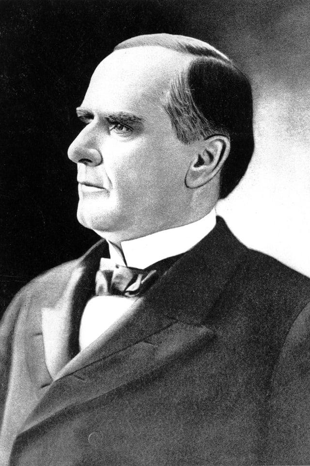 Gemaltes Porträt des Präsidenten McKinley.