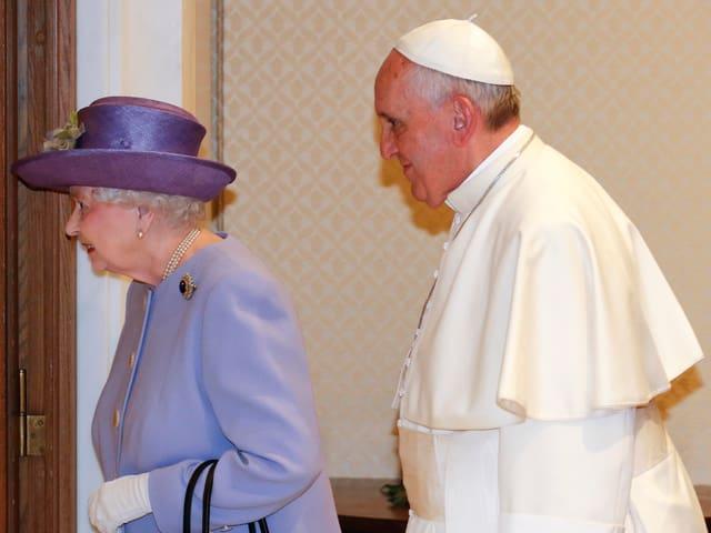 Königin Elisabeth und Papst Franziskus