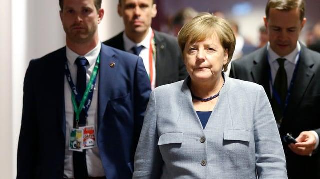 Merkel in Brüssel.