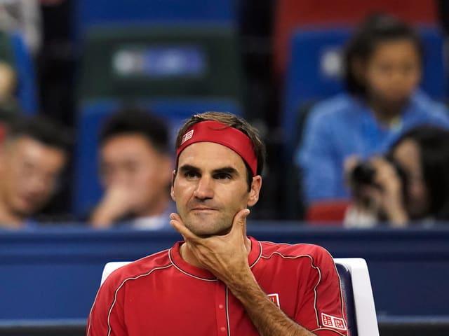Roger Federer in Schanghai.