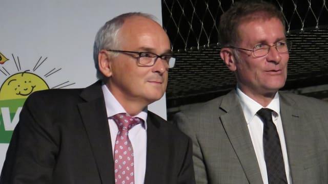 Pierre Alain Schnegg und Christoph Neuhaus.