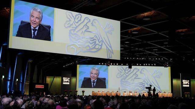 VR-Präsident Peter Brabeck an der Nestlé-GV.