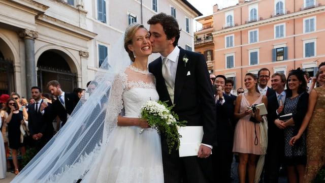 Prinz Amedeo und Elisabetta bei der Hochzeit.