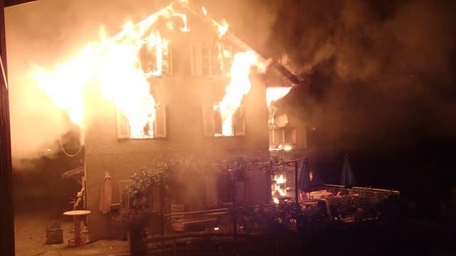 Das Restaurant Berghüsli brennt