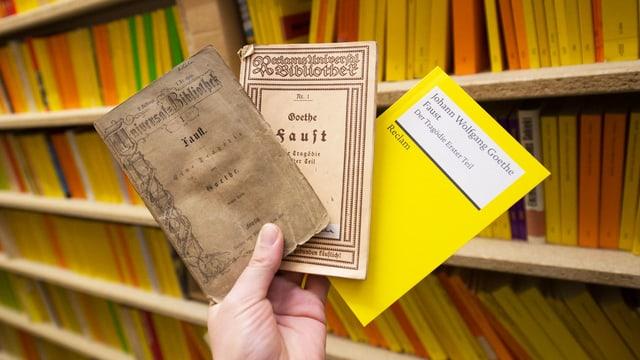 150 Jahre gepflegtes Zerfleddern: «Faust» von 1867, im 1. Weltkrieg und heute.