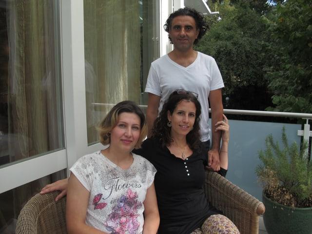 Rocco Christofaro und Annalisa Spagnoli haben die Patenschaft des jüngsten Sohnes von Khalida Omar übernommen.