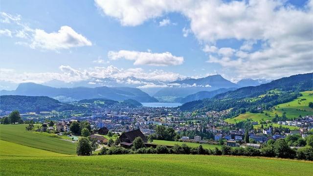 Sommerlandschaft in der Zentralschweiz.