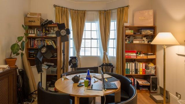 Arbeitszimmer des Wikileaks-Gründers