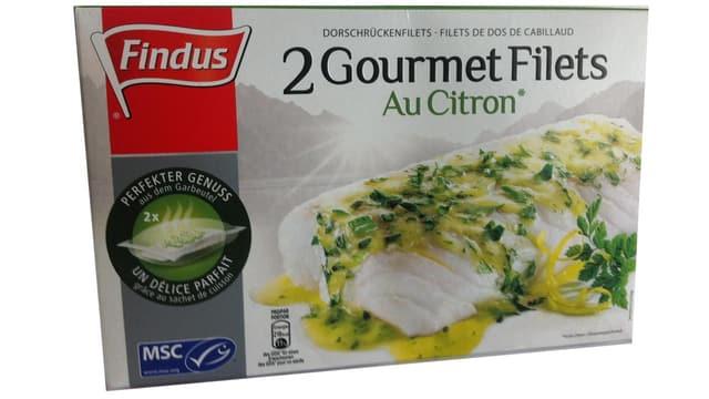 Verpackung Findus-Gourmet Filet au Citron