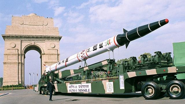 Ina rachetta cun in chau nuclear da l'India.