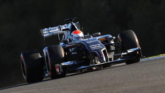 Adrian Sutil bei den Testfahrten in Jerez.