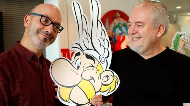 L'autur Jean-Yves Ferri (sanestra) e l'illustratur Didier Conrad.