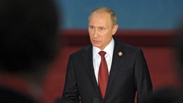 Aufnahme von Russlands Präsident Wladimir Putin.
