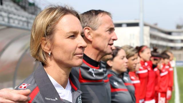 Nati-Trainerin Martina Voss-Tecklenburg und ihrem Team war das Glück bei der Auslosung hold.