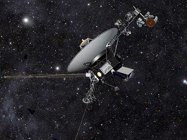Grafische Darstellung der Sonde «Voyager 1» im Weltall