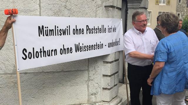 Plakat: Mümliswil ohne Postelle ist wie Solothurn ohne Weissenstein - undenkbar!