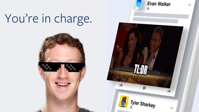 Mark Zuckerberg in Sonnenbrille. George Clooney blättert lachend.